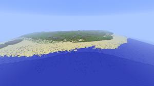 MolèneCraft, ses plages, ses reliefs... et en gris, les emprises des bâtiments à construire.