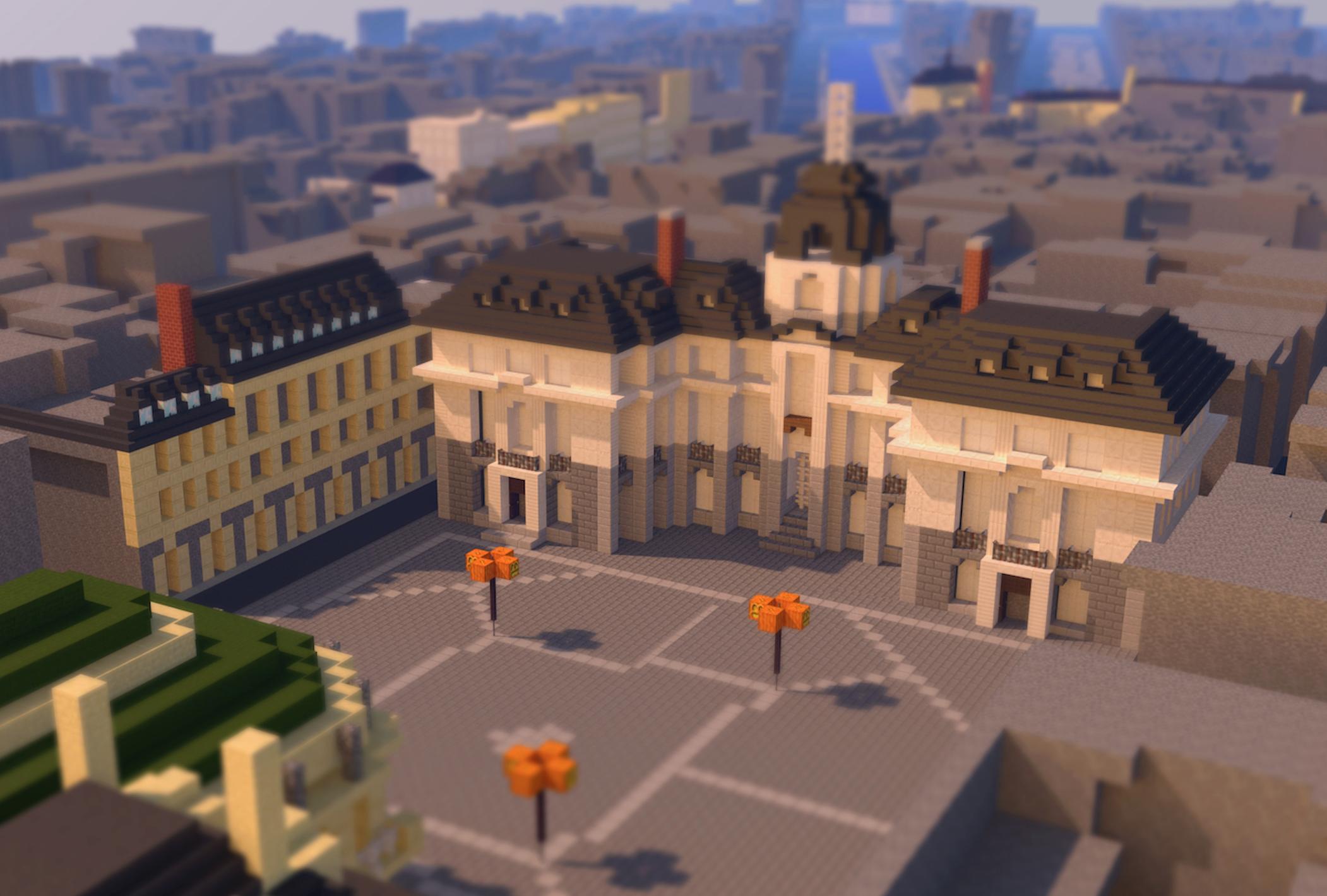 Place de la mairie dans Rennescraft